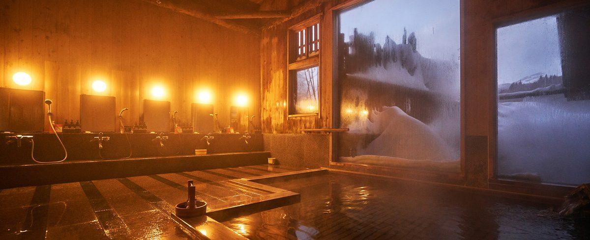 豪雪の大浴場